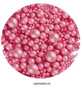 Посыпка шарики Розовые Ассорти микс №105 драже зерновое. Вес: 50 гр