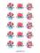 Набор наклеек микс С 8 марта (Букет в коробке).Набор 15 шт на листе А4. Размер: 5 см - фото 9007