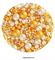 Посыпка шарики Золотисто-белые Ассорти микс №234 драже зерновое. Вес: 50 гр - фото 9330