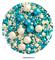 Посыпка шарики Бирюзово-белые Ассорти микс №149 драже зерновое. Вес: 50 гр - фото 9331